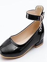 baratos -Mulheres Sapatos Courino Primavera Outono Conforto Inovador Rasos Sem Salto Ponta Redonda Pedrarias para Casual Social Branco Preto