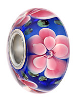 cheap -DIY Jewelry 5 Beads Black Pearl Pink Light Blue Royal Blue Round Alloy Bead 0.45 cm DIY Bracelet Necklace