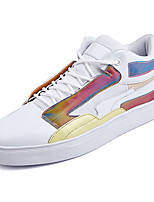 cheap -Men's Shoes PU Leather Spring Fall Comfort Sneakers for Casual White Black Rainbow