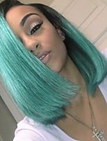 economico -4 pezzi Verde Dritto Brasiliano Tessiture capelli umani Extensions per capelli 0.4kg