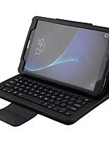 abordables -Coque Pour Samsung Galaxy Tab A 10.1 (2016) Portefeuille Mise en veille automatique Couleur unie Flexible pour Samsung Galaxy