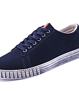 cheap -Shoes PU Spring Fall Light Soles Sneakers for Casual Black Gray Blue