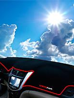 Недорогие -автомобильный Маска для приборной панели Коврики на приборную панель Назначение Hyundai Все года Verna