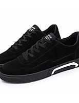 cheap -Men's Shoes Nubuck leather Spring Fall Comfort Sneakers for Casual Black Gray Red