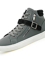 cheap -Shoes PU Winter Fall Comfort Sneakers Buckle for Casual Black Gray Brown