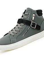Недорогие -обувь Полиуретан Зима Осень Удобная обувь Кеды Пряжки для Повседневные Черный Серый Коричневый