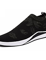 cheap -Shoes PU Tulle Spring Fall Comfort Sneakers for Casual Black/Gold Black/Silver