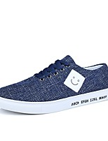 cheap -Men's Shoes PU Fabric Linen Canvas Spring Summer Light Soles Comfort Sneakers for Casual Party & Evening Black Gray Blue