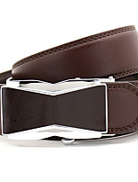 cheap -Men's Leather Alloy Waist Belt,Brown Party Work Casual Solid Metal Pure Color