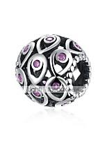 cheap -DIY Jewelry 1 pcs Beads Silver Purple Blue Ball Bead 1.1 DIY Bracelet Necklace
