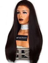 cheap -Human Hair Lace Front Wig Brazilian Hair Straight Bob Haircut Unprocessed 100% Virgin Middle Part Natural Hairline Short Medium Long 150%