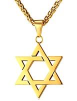 cheap -Men's Star Casual Ethnic Pendant Necklace , Stainless Steel Pendant Necklace , Gift Daily