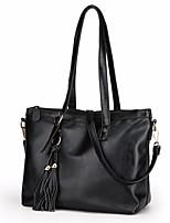 cheap -Women Bags PU Shoulder Bag Tassel for Outdoor Winter Red Black Blue