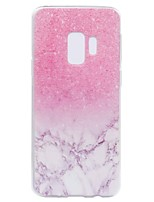 cheap -Case For Samsung Galaxy S9 Plus S9 Transparent Pattern Back Cover Marble Soft TPU for S9 S9 Plus S8 Plus S8 S7 edge S7 S6 edge S6 S5 Mini