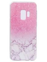 Недорогие -Кейс для Назначение SSamsung Galaxy S9 Plus S9 Прозрачный С узором Задняя крышка Мрамор Мягкий TPU для S9 S9 Plus S8 Plus S8 S7 edge S7
