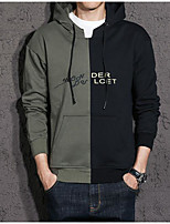 cheap -Men's Daily Going out Hoodie Print Hooded Micro-elastic Polyester Long Sleeve Winter Spring/Fall