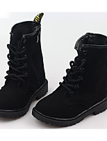 cheap -Boys' Shoes Nubuck leather Winter Fall Comfort Combat Boots Boots Mid-Calf Boots for Casual Peach Black