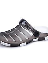 Недорогие -обувь силикагель Весна Лето Удобная обувь Тапочки и Шлепанцы для Повседневные Коричневый Темно-серый Зеленый Синий