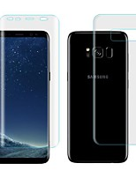 cheap -Screen Protector for Samsung Galaxy S8 Plus TPU Hydrogel 2 pcs Front & Back Protector Self-healing 3D Curved edge