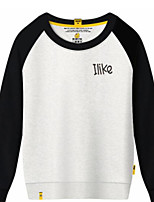 cheap -Men's Daily Sports Sweatshirt Solid Print Round Neck Micro-elastic Cotton Polyester Long Sleeve Winter Fall