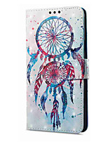 cheap -Case For Samsung Galaxy A8 Plus 2018 A8 2018 Card Holder Wallet with Stand Flip Magnetic Pattern Full Body Dream Catcher Hard PU Leather