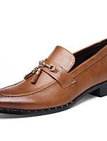 Недорогие -Муж. обувь Лакированная кожа Весна Осень Удобная обувь Формальная обувь Мокасины и Свитер для Повседневные Для вечеринки / ужина Черный
