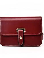 cheap -Women Bags PU Shoulder Bag Buttons Zipper for Casual All Season Brown Red Black
