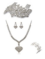 cheap -Women's Hair Combs Bridal Jewelry Sets Rhinestone Fashion European Wedding Party Imitation Diamond Alloy Geometric Heart Body Jewelry 1