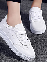 cheap -Women's Shoes PU Spring Fall Comfort Sneakers Flat Heel for Casual Green White