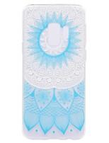 baratos -Capinha Para Samsung Galaxy S9 Plus S9 Transparente Estampada Capa Traseira Flor Macia TPU para S9 S9 Plus S8 Plus S8 S7 edge S7 S6 edge