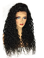 cheap -250% Density 360 Lace Frontal Lace Wigs with Baby Hair Brazilian 100% Human Hair with Bleached Knots 8-22 Hot Curly 360 Lace Wigs Natural Hairline