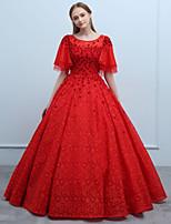 economico -Da ballo Lungo Di pizzo Graduazione Serata formale Vestito con Perline Fiore (i) di SG