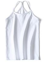 cheap -Girls' Solid Summer Underwear, Cotton Micro-elastic Simple Green White Purple Yellow