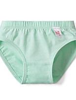 cheap -Girls' Solid All Seasons Underwear, Cotton Micro-elastic Green White Purple Yellow