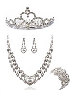 cheap -Women's Tiaras Bridal Jewelry Sets Rhinestone Imitation Diamond Alloy Geometric Dream Catcher Fashion European Wedding Party Body Jewelry