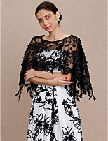 cheap -Sleeveless Lace Wedding Party / Evening Women's Wrap With Lace Capes