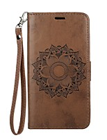 cheap -Case For Apple iPhone X iPhone 8 Card Holder Wallet with Stand Flip Embossed Full Body Mandala Hard PU Leather for iPhone X iPhone 8 Plus