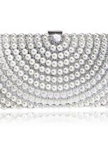 preiswerte -Damen Taschen Polyester Abendtasche Kristall Verzierung Perlen Verzierung für Veranstaltung / Fest Alle Jahreszeiten Gold Schwarz Silber