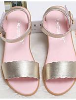 Недорогие -Девочки обувь Кожа Весна Лето Удобная обувь Сандалии для Повседневные Золотой Розовый
