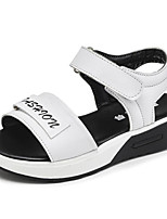 cheap -Girls' Shoes Synthetic Microfiber PU Spring Summer Comfort Sandals for Casual Pink Black White