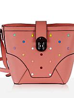 cheap -Women Bags Cowhide Shoulder Bag Zipper for Casual All Season Blushing Pink Black