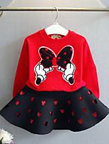 Недорогие -Девочки Набор одежды Повседневные Хлопок Бамбуковая ткань Однотонный Весна Короткие рукава На каждый день Черный Красный