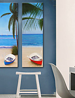 preiswerte -Leinwanddruck Rustikal Modern,Zwei Panele Leinwand Vertikal Druck Wand Dekoration Haus Dekoration