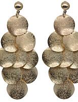 baratos -Mulheres Brincos Compridos Brincos em Argola Básico Fashion Liga Oval Jóias Casamento Diário