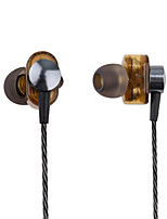 cheap -PHB EP012 In Ear Wired Headphones Dynamic Plastic Pro Audio Earphone with Volume Control with Microphone Headset