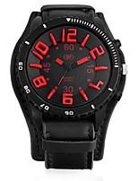 Недорогие -Муж. Армейские часы Китайский Кварцевый Повседневные часы Кожа Группа Cool Черный