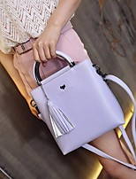cheap -Women Bags PU Tote Tassel for Casual Summer Purple Blushing Pink Black Green