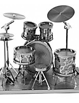 cheap -3D Puzzles Metal Puzzles Round Drum Set Jazz Drum Exquisite Hand-made Parent-Child Interaction Metal Music Contemporary Classic & Timeless