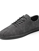 cheap -Men's Shoes PU Spring Fall Comfort Oxfords for Casual Gray Brown
