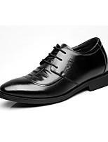 cheap -Men's Shoes Real Leather Spring Fall Formal Shoes Oxfords for Party & Evening Office & Career Black